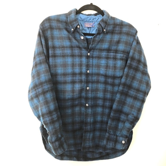 34ee54713b Vintage Pendleton Men s Plaid Wool Button Down L